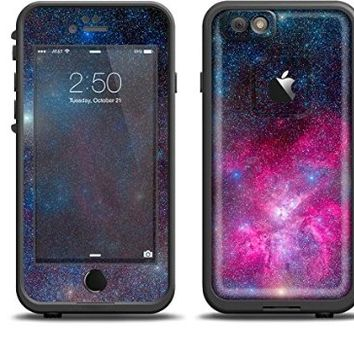 The Pink & Blue Galaxy Skin Set for the Apple iPhone 6 LifeProof Fre Case (Skin Only)