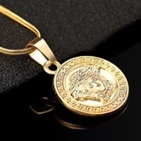 DCCKJ1A Versace The new fashion personality small necklace collarbone chain.