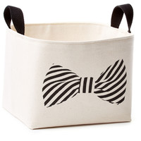 Bow Tie Canvas Bin, Storage Boxes & Bins