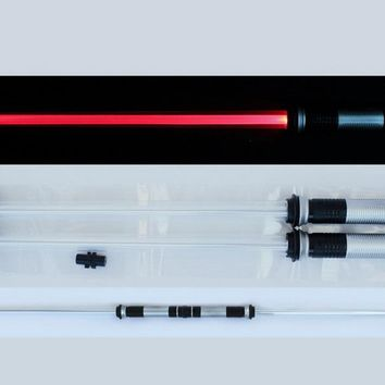 2 size Star - Wars Lightsaber Led Flashing Light Sword Toys Cosplay Weapons Can Mutual percussion Sabers for boys Action
