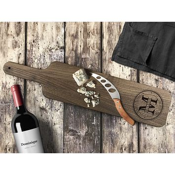 Personalized Engraved Cheese Board, Walnut Wood - CB04