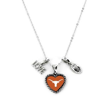 Texas Longhorns Necklace Charmed Sport Love Football