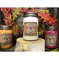 Candy-Corn Natural Hand Poured Soy Candles