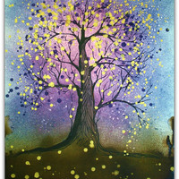 Enchanted Forest Original watercolor tree art by Alma Yamazaki