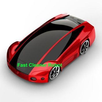 Newest Super Cool Sports Car Model Design Automatic Robot Vacuum Cleaner With Handhold portable vacuum cleaner Double USE