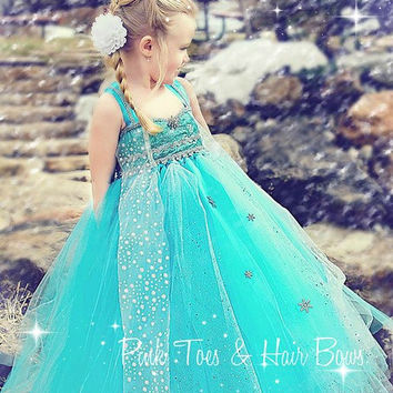 Elsa Tutu dress- Elsa frozen tulle dress- Elsa dress- Elsa costume