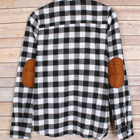 Checkers and Elbow Patches - Black/White