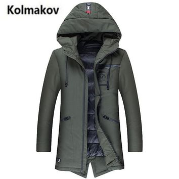 KOLMAKOV 2017 new winter high quality men's letter printed thick down jacket parkas,90% white duck down coats windbreaker men