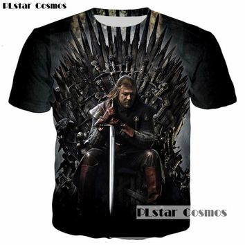 PLstar Cosmos New Design Game of Thrones Ghost Stark Sword 3D Print Men/Women T-shirt casual mens tshirt Tops Tees Cool t shirt