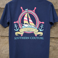 Ship Wheel Tee | Southern Couture
