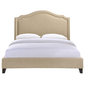 Charlotte Contemporary Upholstered Queen Bed