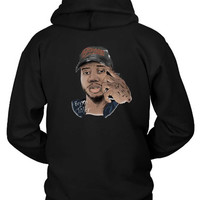 Bryson Tiller Fan Art Cover Colorize Title Hoodie Two Sided