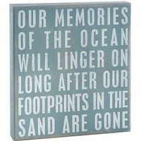 Memories of The Ocean Box Sign 10