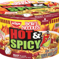 Nissin Bowl Noodles Hot & Spicy Beef