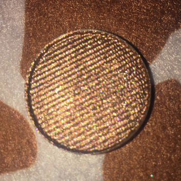 BRONZED CHOCOLATE- Pressed Eyeshadow Pigment - shimmer / duochrome/ metallic bronze brown