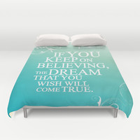 believing.. cinderella quote Duvet Cover by studiomarshallarts