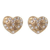 CHIC! Gold Heart Stud Clip On Earrings