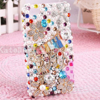 colorful piano iphone 4s case, handmade bling iphone 4 case iphone skin iphone 5 cover case - crystal iphone 5 case
