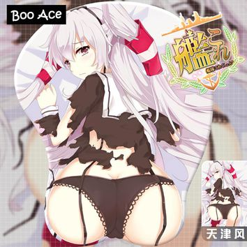 Kantai Collection-Amatsukaze Anime Sexy 3D Bottom Hip Gaming Mouse pad Mat for Computer with Wrist Rest Size 26*21*3.2cm MP1200