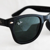 Rayban Wayfarer RB2140 Sunglasses Black Polished Ray ban from Sunglass Mania