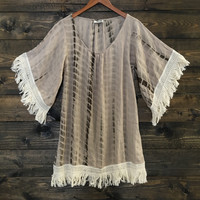 Love Shack Fringe Boho Tie Dye Dress