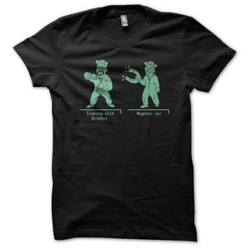 Breaking Bad Walter And Jesse Duo In Cartoon Custom Men's Gildan Adult T-Shirt