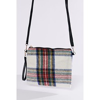Tis The Season Plaid Purse (White)