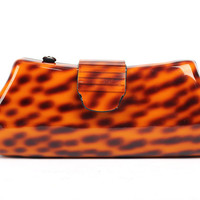 Sex Designer Women Animal Print Leopard Acrylic Clutch