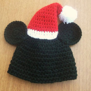 MICKEY and MINNIE MOUSE Christmas Hat Crochet by CrochetPatterns1