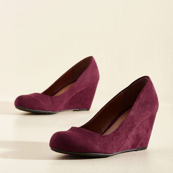Find Your Feat Wedge in Wine | Mod Retro Vintage Heels | ModCloth.com