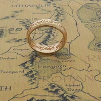 The Lord of The Rings One Ring of Power LOTR Engraved The Hobbit Multiple Sizes