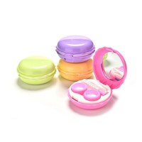 5 Colors Macaroon Mirrored Contact Lens Case Lot Eye Lens Case Contact Lens Travel Case Plastic Contact Lens Box Holder