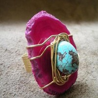 Sedona Sunsets Natural Stone Ring by AfriqueLaChic on Etsy