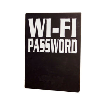 Metal Chalkboard Wi-Fi Password Sign 14-in