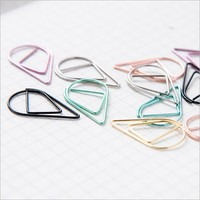 50 pcs lot Drop Feature Small Metal Paperclip Office School Stationery Metal Clip Bookmarker Concise Cute High-quality Memo Clip