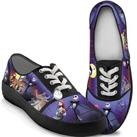 Tim Burton's The Nightmare Before Christmas Canvas Women's Shoes by The Bradford Exchange