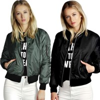 Women Biker Jacket windbreaker Coat