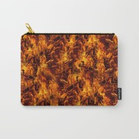 Fire and Flames Pattern Carry-All Pouch by gx9designs