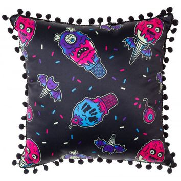 Sourpuss Ice Creep Cones Pillow