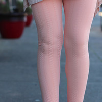 Imprinted Impression Leggings {Peach}