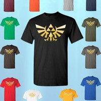 The Legend of ZELDA * T-SHIRT * triforce logo video game tee Nintendo gamer