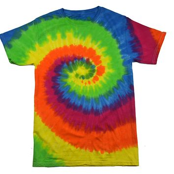 Tie Dye Shirt Multi Color Moondance Spiral T-Shirt