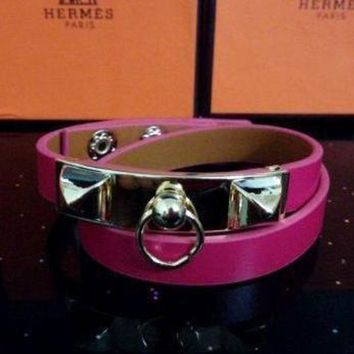 CREYUP0 Hermes Women Fashion Leather Bracelet Jewelry-4