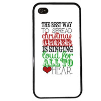 Christmas Cheer Case / Elf iPhone 4 Case Holiday iPhone 5 Case iPhone 4S Case iPhone 5S Case Buddy Trendy Phone Case