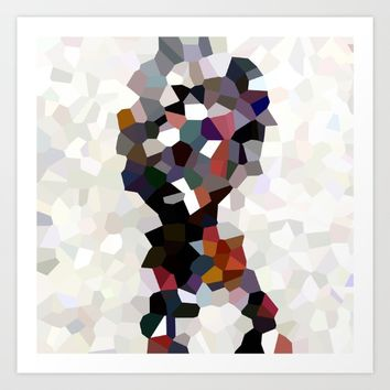 Geometric Anatomy Art Print by wtfineart