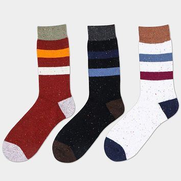 National Striped Mens Business Socks High Quality Adult Leisure Cotton Socks Breathable Long Tube Sock