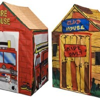 Kids Adventure 2 in 1 Fire House Club House Play Tent