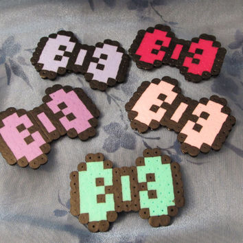 MINI 8 Bit Retro video game girl gamer Pixel Bow Hair clip fascinator - Cute Kawaii - Custom Made - Many colors to choose from