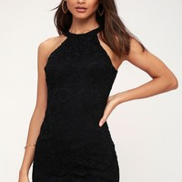 Love Poem Black Lace Dress