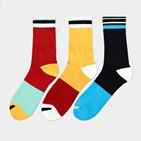Mixed Color In Tube Socks For Men Autumn And Winter Weather Cotton Socks Gentlemen Business Sock Accessories